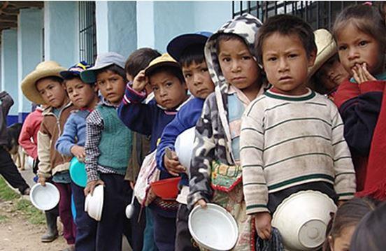 marcha de sacrificio por los niños de Pasco